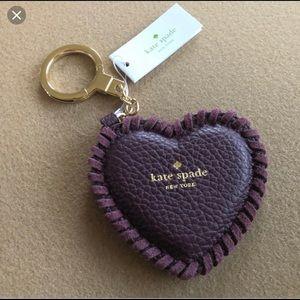 Kate spade Purple Heart keychain
